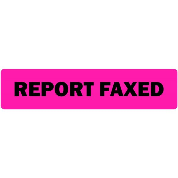 Report Faxed Medical Labels