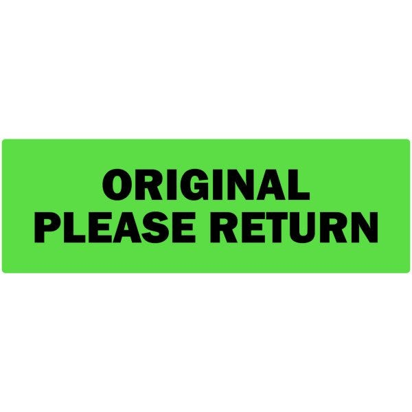 Original Please Return Labels