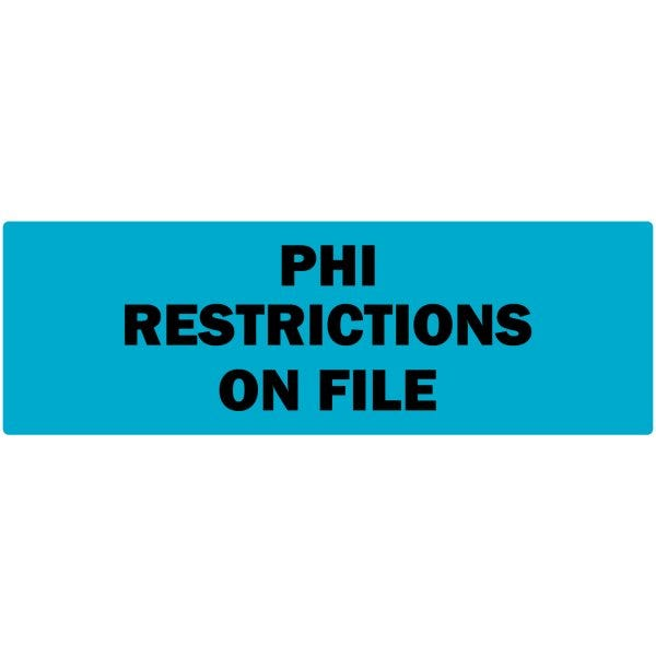 PHI Restrictions on File Labels