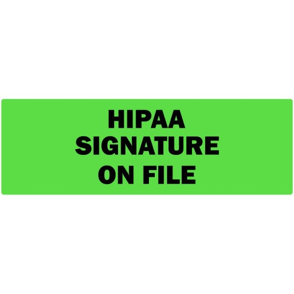 Hippa Signature on File Labels