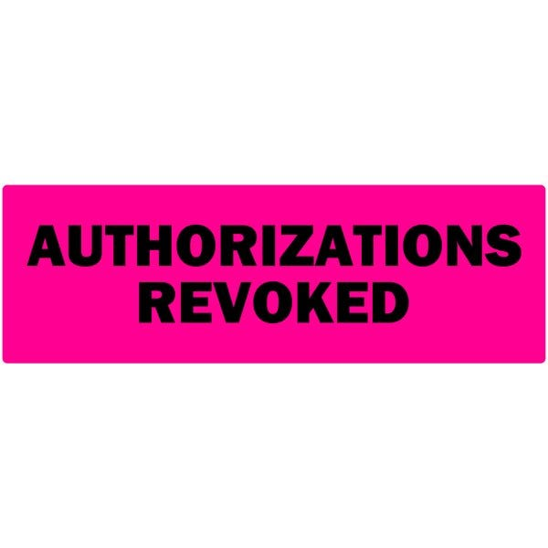Authorizations Revoked Labels