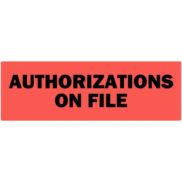 Authorizations On File Labels