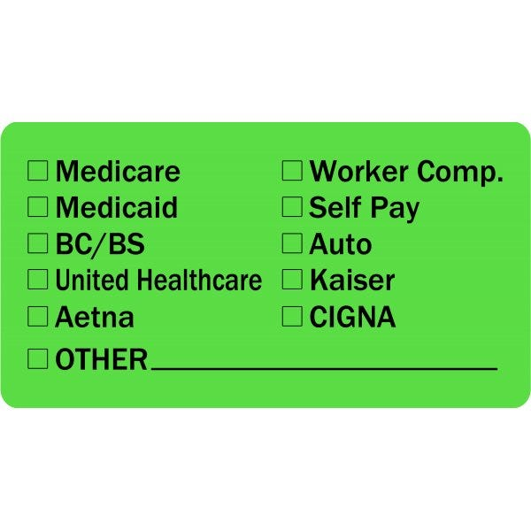 Insurance Provider Checklist Medical Labels