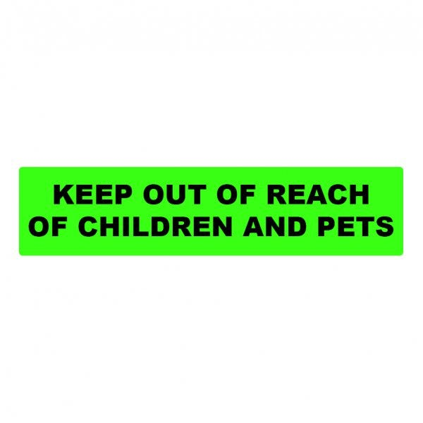 Keep Out of Reach of Children and Pets Medical Labels