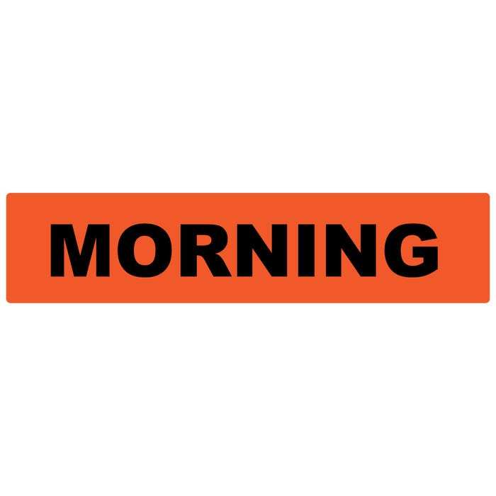 Morning Medication Instruction Labels