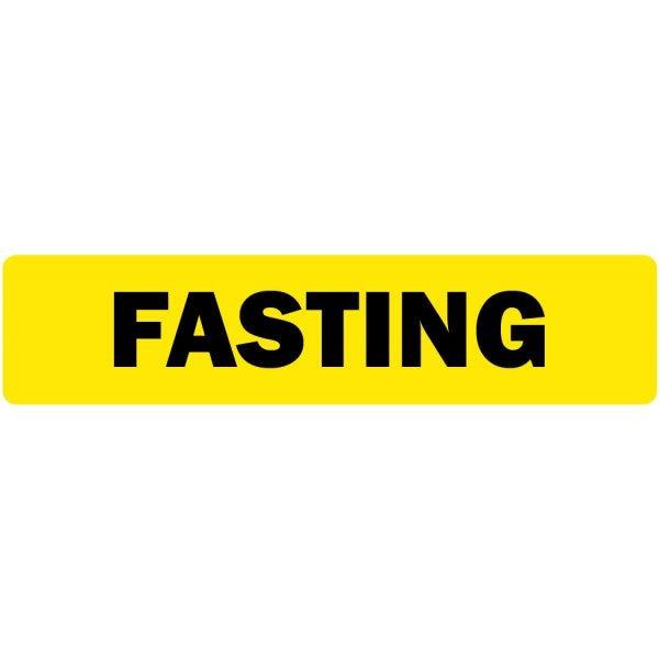 Fasting Medical Labels