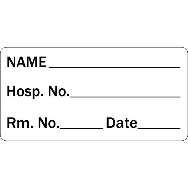 Name and Hospital Room Medical Labels
