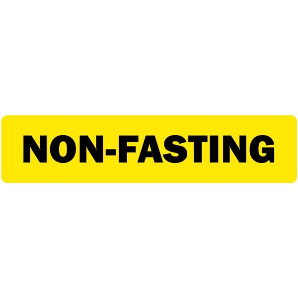 Non-Fasting Medical Labels