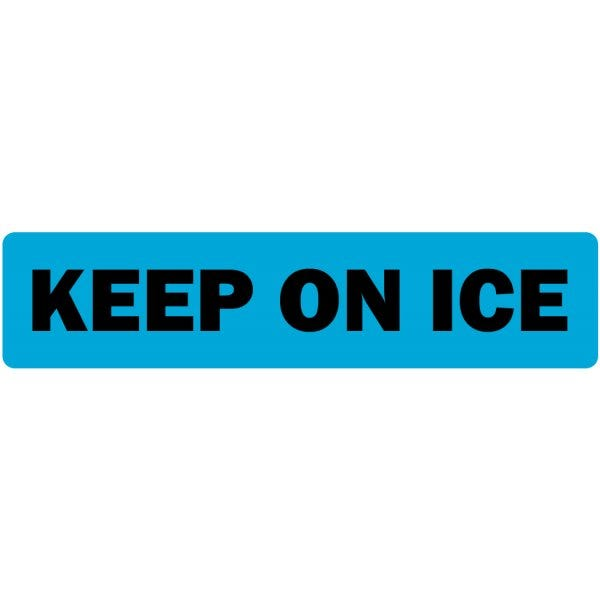 Keep on Ice Medical Labels