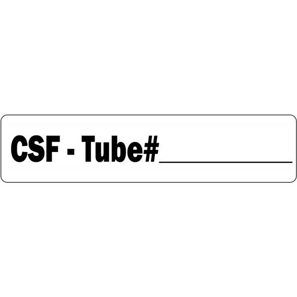 CSF - Tube Medical Labels