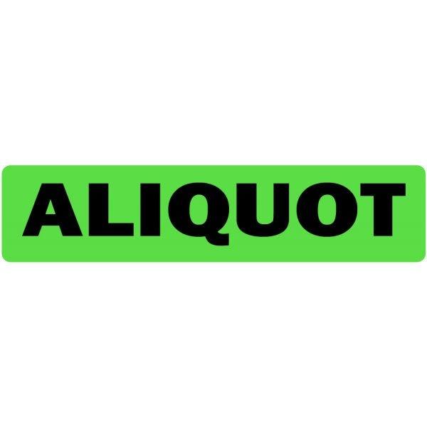 Aliquot Medical Labels