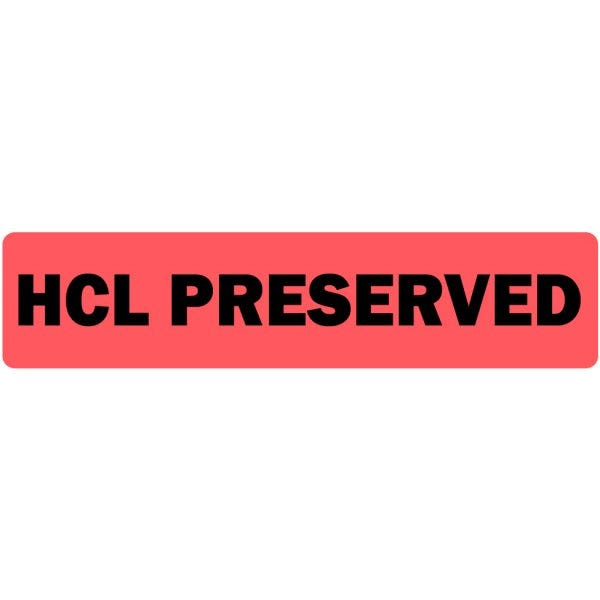 HCL Preserved Medical Labels