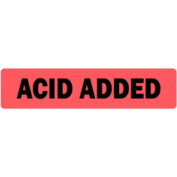 Acid Added Medical Labels