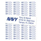 U.S. Navy Return Address Labels