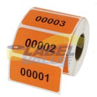 "Custom Color Coded Consecutively Numbered Labels 2"" x 1"""