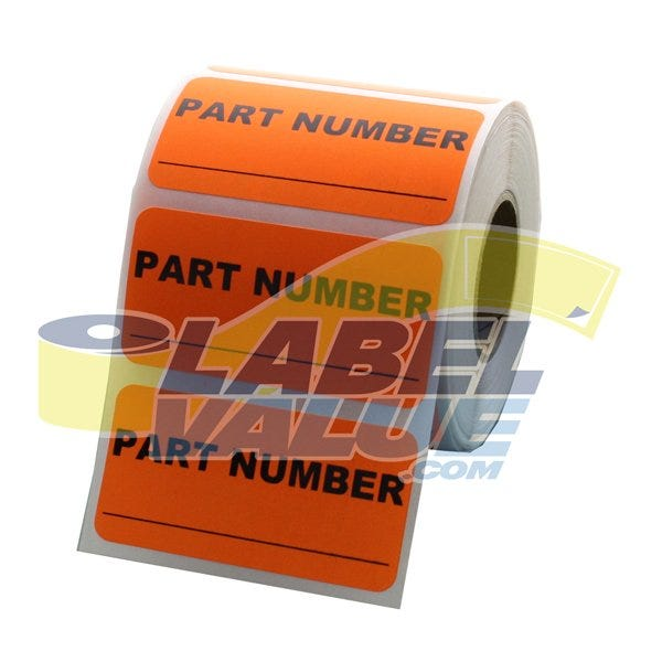 "Part Number Inventory Labels 2"" x 1"""