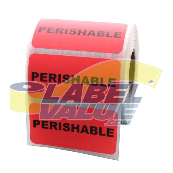 "Perishable Inventory Labels 2"" x 1"""