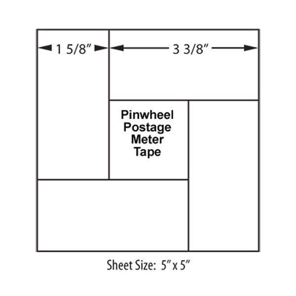 Pinwheel Postage Meter Tape 5 x 5