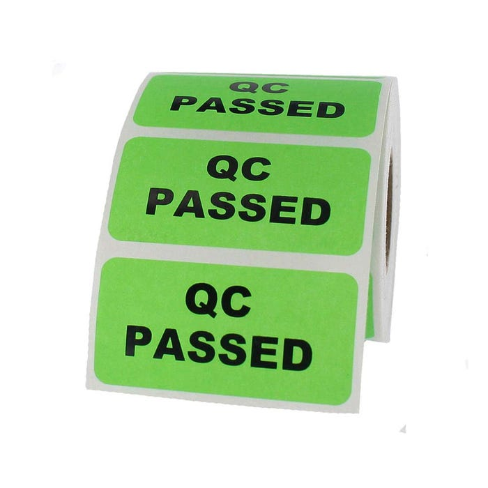 "QC Passed Inventory Labels 2"" x 1"""