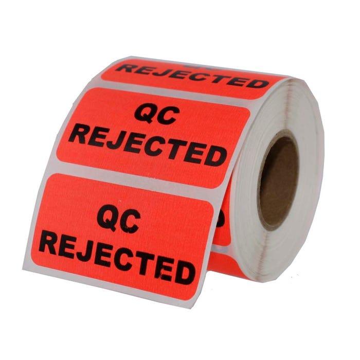 "QC Rejected Inventory Labels 2"" x 1"""