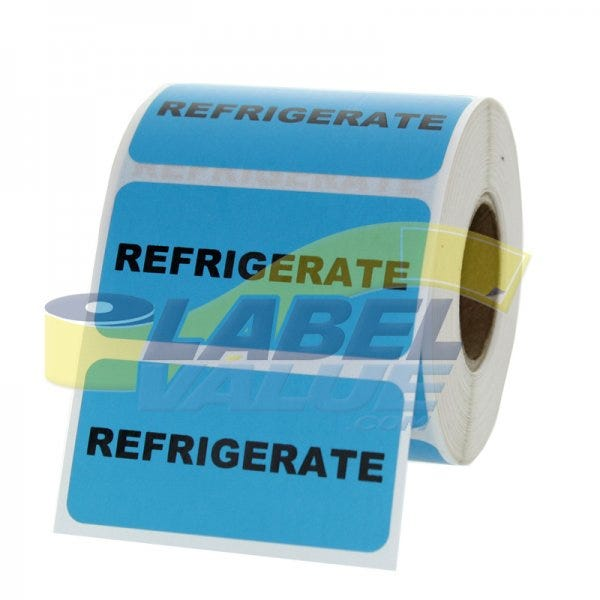 "Refrigerate Inventory Labels 2"" x 1"""