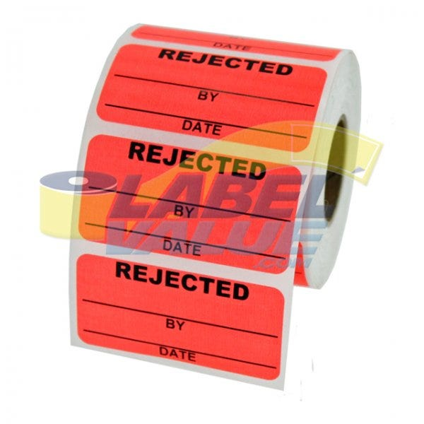 "Rejected Inventory Labels 2"" x 1"""