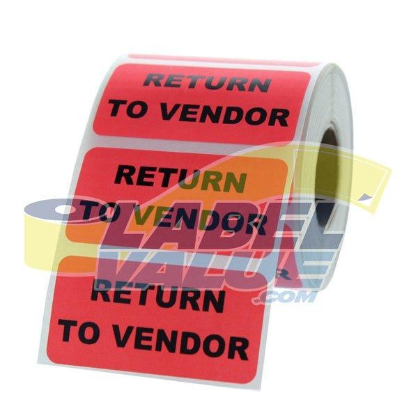 "Return to Vendor Inventory Labels 2"" x 1"""