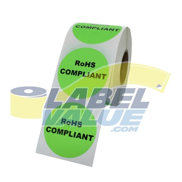 RoHS Compliant Labels 1.5""