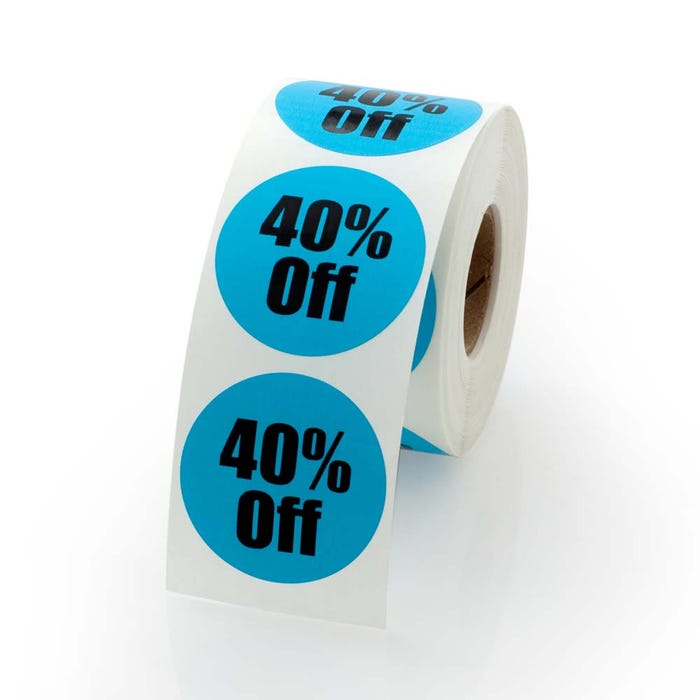 """40 Percent Off Labels 1.5"""""""