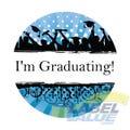 "Custom Graduation Announcement Labels 1-1/2"""