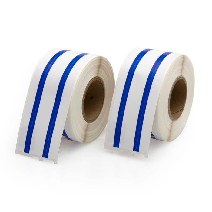 Seiko Compatible LV-SLP-FLB File Labels, Blue Stripe