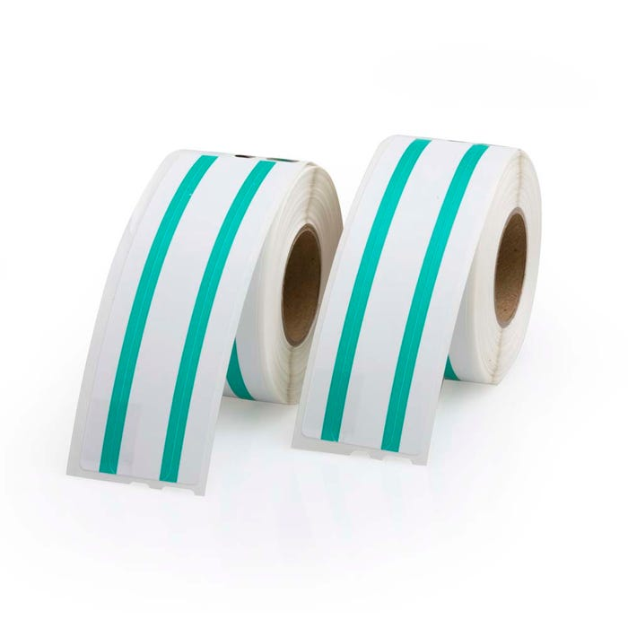 Seiko Compatible LV-SLP-FLG File Labels, Green Stripe