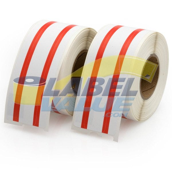 Dymo Compatible LV-30327 File Labels, Red Stripe