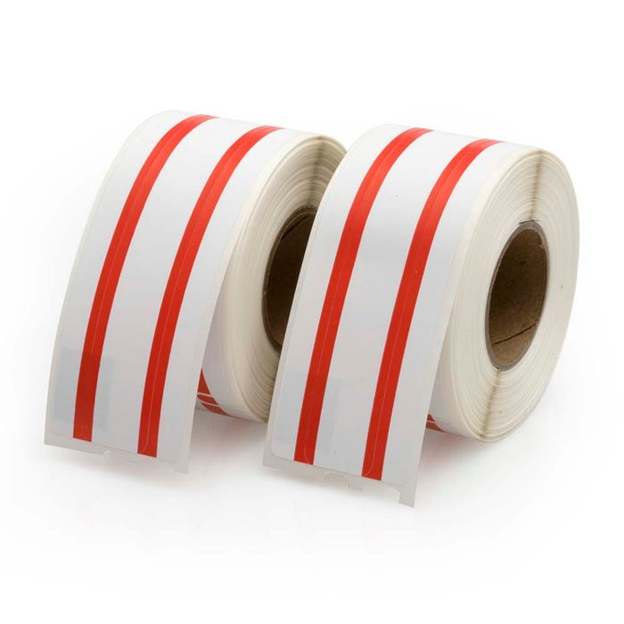 Seiko Compatible LV-SLP-FLR File Labels, Red Stripe