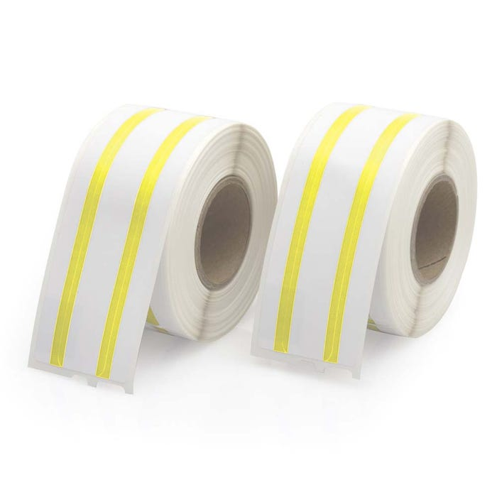 Seiko Compatible LV-SLP-FLY File Labels, Yellow Stripe