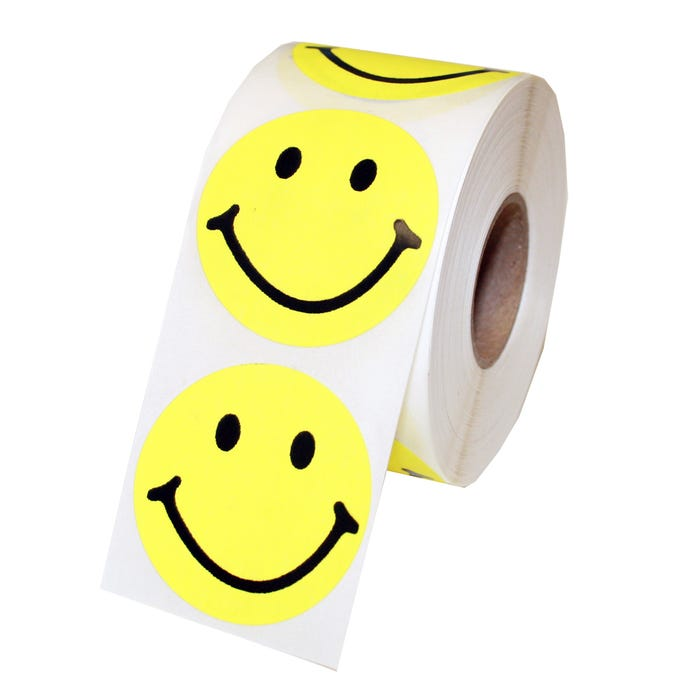 """Smiley Face Labels 1.5"""""""