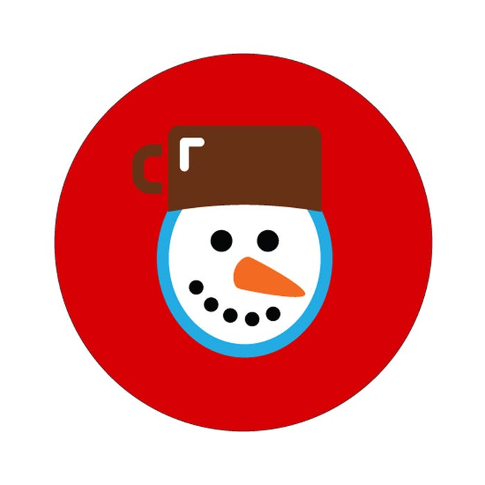 """Snowman Labels 1.5"""""""