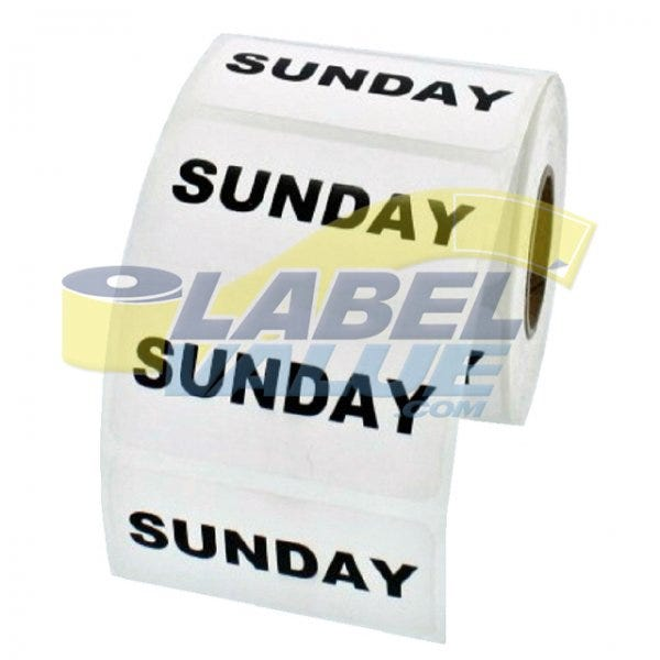 "Sunday Inventory Labels 2"" x 1"""