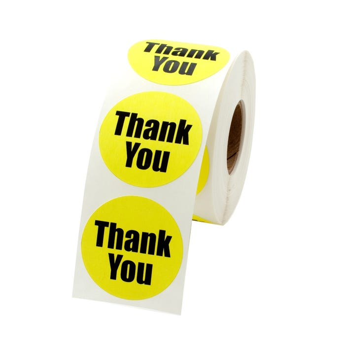 """Thank You Labels 1.5"""""""