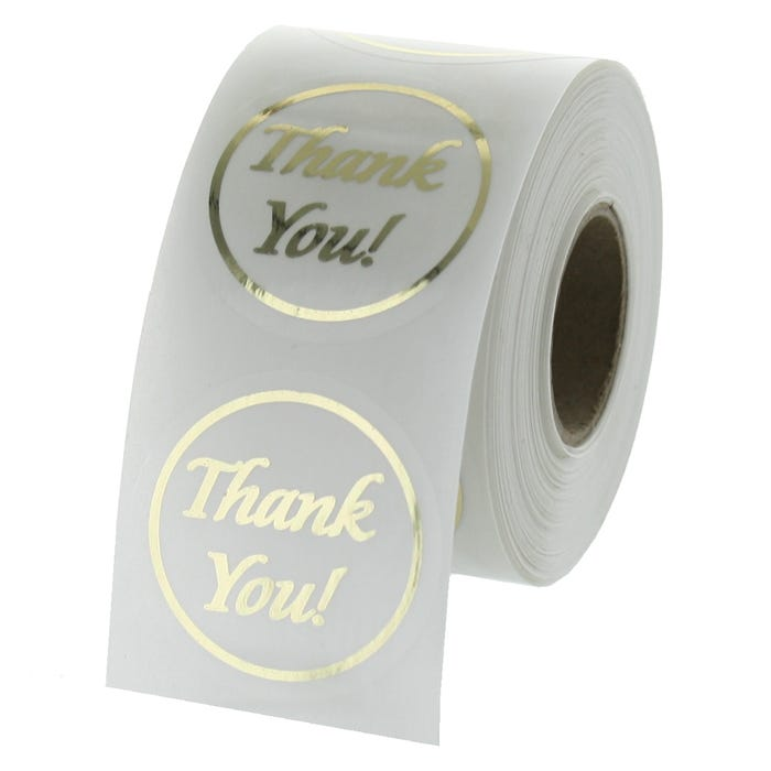 Thank You Gold Foil Labels 1.5""