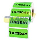 "Tuesday Inventory Labels 2"" x 1"""