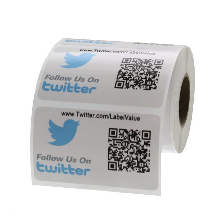 Twitter Labels with Custom QR Code