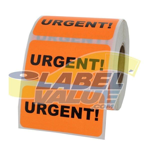 "Urgent Inventory Labels 2"" x 1"""