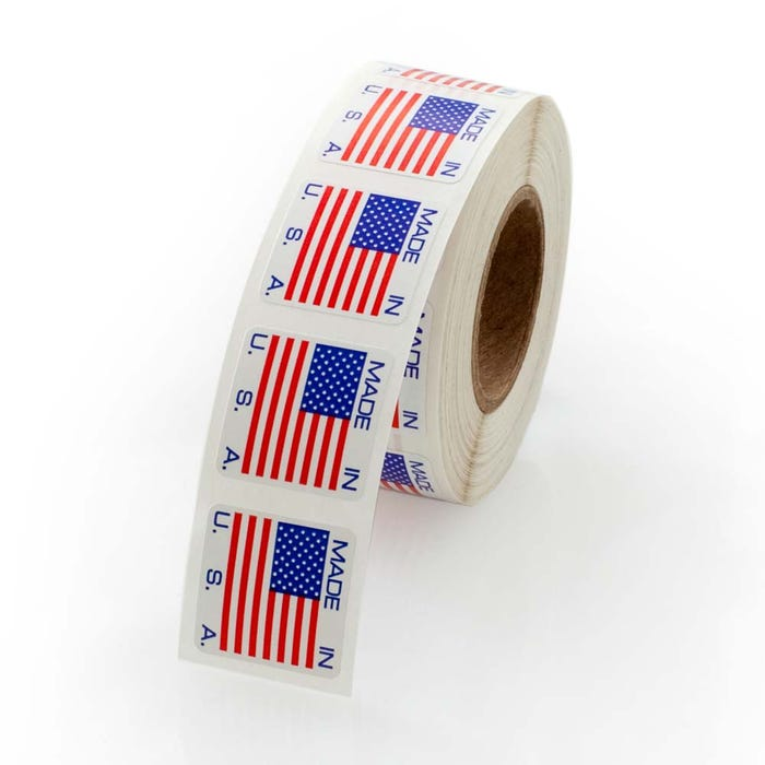 "Made In The USA Labels 3/4"" x 3/4"""