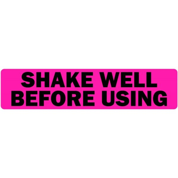 Shake Well Before Using Veterinary Labels