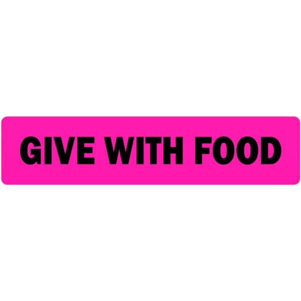 Give with Food Veterinary Labels