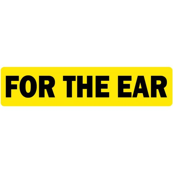 For the Ear Veterinary Labels