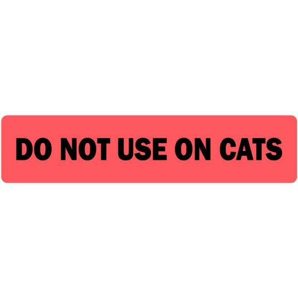 Do Not Use On Cats Veterinary Labels