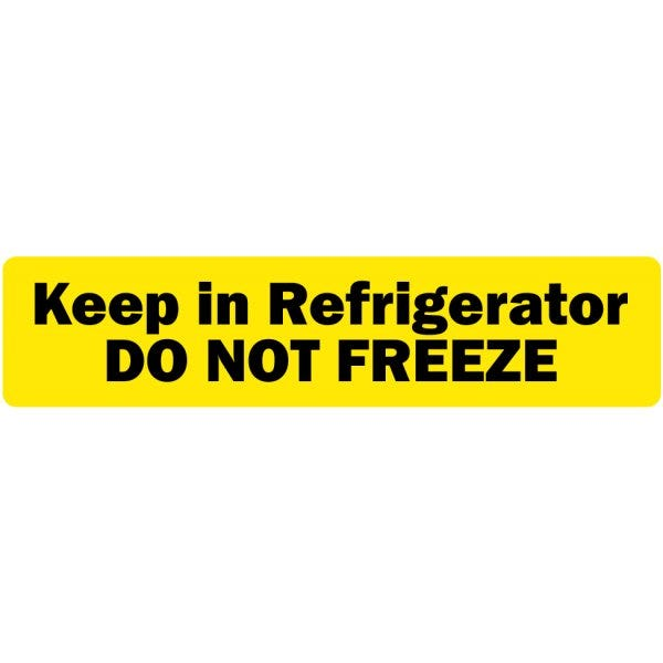 Keep in Refrigerator DO NOT FREEZE Veterinary Labels