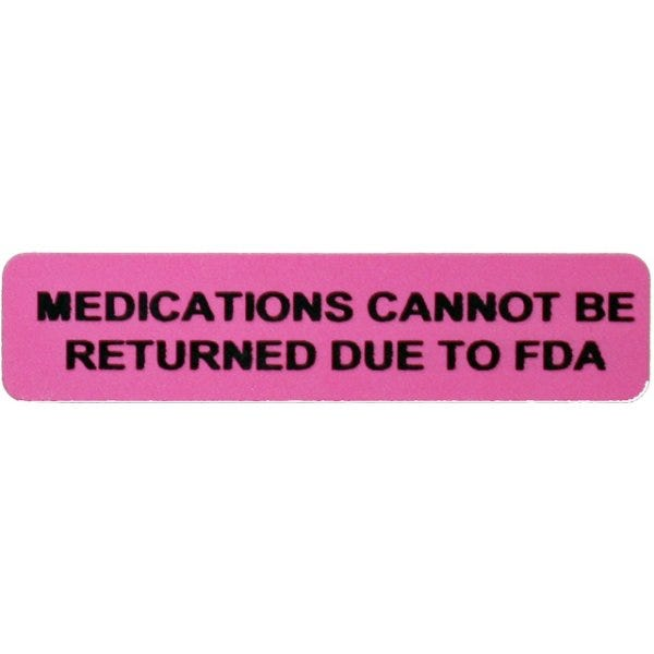 Medications Cannot Be Returned Due To FDA Veterinary Labels